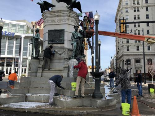 Allentown Center Square Clean Up
